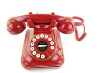 Vintage GRAND PHONE Red Flash Dial Desk Type RETRO Phone Telephone