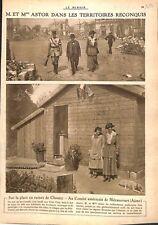 Mr. & Madame Astor Place en Ruines de Chauny/Comité USA WWI 1917 ILLUSTRATION