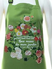 French Apron Roses From My Garden 100% Cotton For The Chef or Gardener