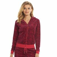 SALE NWT Authentic Women Juicy Couture Velour  Hoodie Jacket Leopard Rd