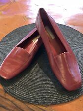 PARTNERS Rich Red Women's Shoes Leather Loafer Slip-on SZ 7.5M