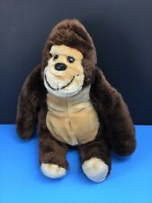 Vintage Wallace Berrie 1981 Brown Gorilla 11� Plush Stuffed Animal Ape Monkey