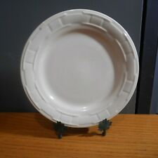 Longaberger Pottery Woven Traditions Ivory Dinner Plate