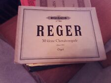 Reger: 30 Short Chorale Preludes, op 135a, organ (Peters)