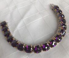 Park Lane Signature Bracelet Statement Dark Purple Amethyst Gold Silver Tone 500