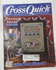 Cross Quick Premier Back Issue Magazine Alphabet Country Sampler Cross Stitch