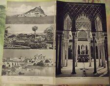 1962 Carte & Image Espagne Portugal sud Gibraltar Sierra Nevada art print