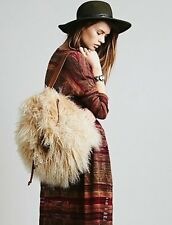 Totem salvaged mongolian Fur Lux Dream backpack bag free people Sheepskin Rare