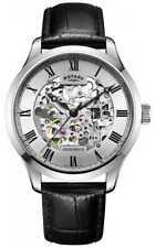 Rotary Herenskelet Automatisch Leer GS02940/06 Horloge