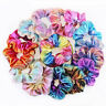 Women Colorful Elastic Bronzing Hair Rope Glitter Hair Ring Holder Scrunchie