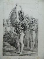 Lito Charlet Granaderos Para Pie Gran Ropa F. Delpeche N º 3 Circa 1819