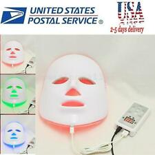 3Color Light Photon LED Facial Mask Skin Rejuvenation Smooth Therapy Care Beauty
