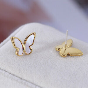 KATE SPADE New York mother of pearl Shell butterfly Stud Earrings