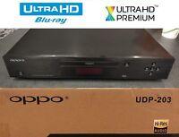 OPPO DIGITAL UDP-203 4K ULTRA HD UHD UNIVERSAL 3D BLU-RAY DVD PLAYER USED IN BOX
