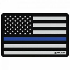 "Tekmat Police Support Flag Cleaing Mat - 11"" X 17"" - Bonus Towel"