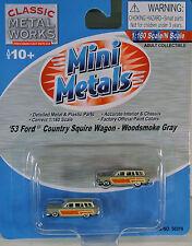 CMW Mini Metals 50319 N 1/160 53 Ford Country Squire Wagon Woodsmoke Gray C-9