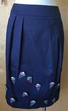 NWT Jimi Roos navy ice cream cone applique skirt size Small 4 US