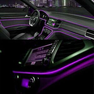 Purple LED Car Auto Interior Decor Atmosphere Wire Light Strip Atmosphere Lamp