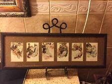 Framed Harrison Fisher Art Nouveau Prints/Postcards