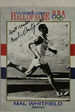Mal Whitfield (d.2015) Autograph Signed 1991 Impel Olympic HOF Card #39 USA