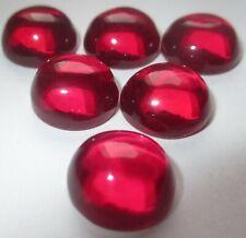 1 synthetischer Stein Cabochon 12,0 mm Rubin-rot #05 rund Korundum Mohshärte 9,0