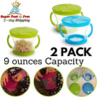 Kids Snack Catcher With Lid Toddler Snack Cup Containers 2 Piece Pack No Spill