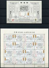 MACAU MACAO 2000 Teezeremonie The Art of Tea 1087-90 KB + Bl.79 ** MNH