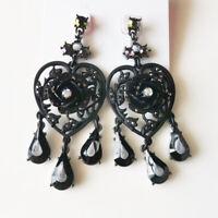 New Betsey Johnson Heart Drop Dangle Earrings Gift Fashion Women Party Jewelry N