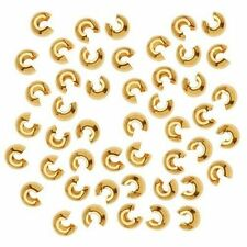 Beadsmith Crimp Bead Covers Gold Plated, 144 pcs 3mm (fncc0378)