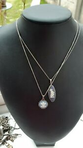 2 Sterling silver Wedgwood Necklaces