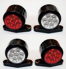 4x 24V Rot weiß LED Seite Umriss Leuchte Lichter Lampen Lkw Bus Traktor Anhänger