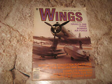 VINTAGE MAGAZINE WINGS BY SENTRY FEB 1981 ISREAL 3 PLANE AIR FORCE N-3PB C-47