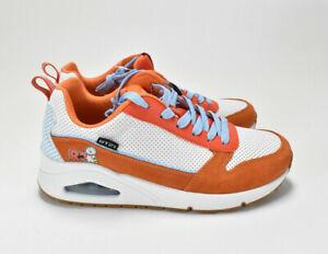 NEW BT21 RJ Skechers Platform Tennis Shoes -Size 8- Orange-Extra Laces Include