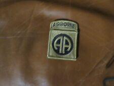 New listing 82nd Airborne Division Od Green Subdued Patch with attached tab hook loop
