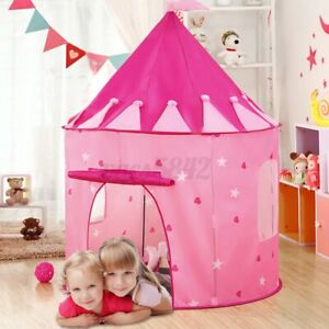 Folding Princess Prince Kids Castle Play Tent Outdoor Indoor House Playhouse USA