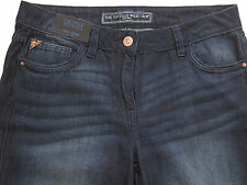 New Womens Blue Wide Leg Crop NEXT Jeans Size 10 RRP £26