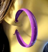 ASSORTED COLOR EARRINGS 2 INCH THICK HOOP EARRINGS LIGHTWEIGHT