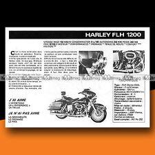 ★ HARLEY-DAVIDSON FLH 1200 ★ 1977 Essai Moto / Original Road Test #c250