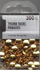 GOLD  Colored Thumb Tacks 300 count, include Storage Box Sealed