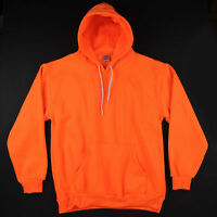 HIGH VISIBILITY SAFETY ORANGE PULLOVER HOODIE HILL SPORTSWEAR BRIGHT NEON HOODY