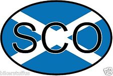 SCO SCOTLAND COUNTRY CODE OVAL WITH FLAG STICKER BUMPER STICKER LAPTOP STICKER