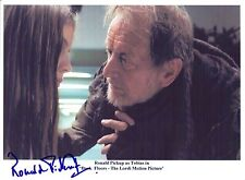 Two Hand Signed 8x10 photo - RONALD PICKUP Dark FLoors The Lordi Motion Picture