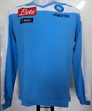NAPOLI 2012/13 L/S COTTON TEE SHIRT BY MACRON SIZE EU SMALL BRAND NEW WITH TAGS