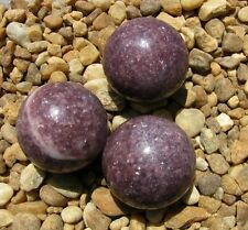 Lepidolite Spheres, 40 MM, Reduces Stress and Mood Swings