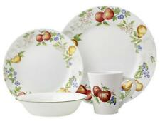 "CORELLE 16-pc CHUTNEY DINNERWARE SET Fruit Orchard *NEW Wide Rim Style NO Swirl"""