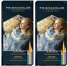 2 Packs -  PRISMACOLOR PREMIER VERITHIN 12 COLORED PENCILS - New In Box