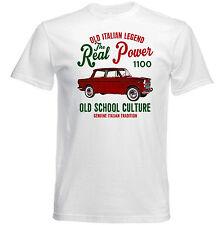 Vintage Italiano coche Fiat 1100 especial poder real-Nuevo Algodón Camiseta