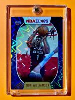 Zion Williamson RARE TEAL EXPLOSION REFRACTOR NBA HOOPS HOT 2ND YEAR CARD - Mint
