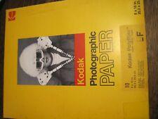 "Kodak 8""×10"" Polyfiber Photographic Paper (10 sheets) Unopened"