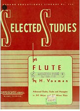 Rubank Selected Studies for FLUTE, Voxman, NEW.